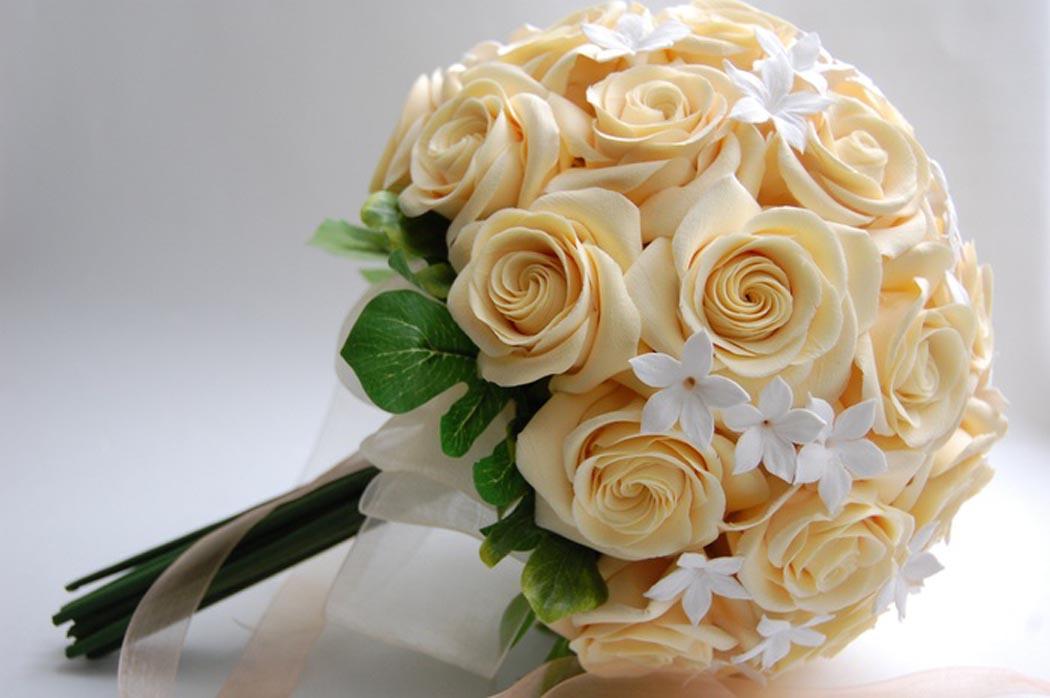 Свадебный букет невести из роз
