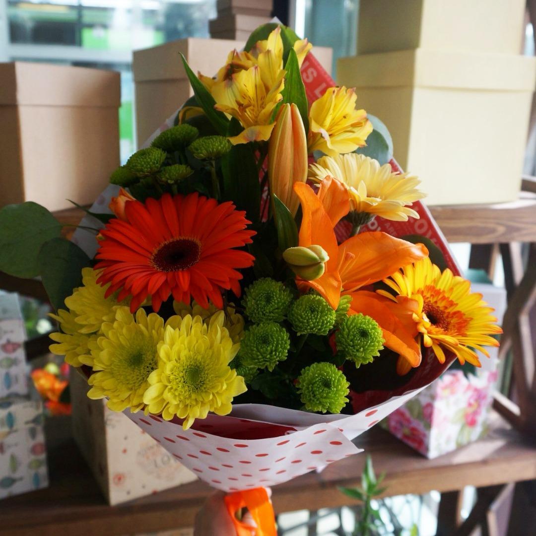 Букеты из цветов фото из хризантем